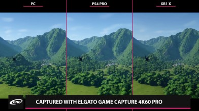Сравнение графики Jurassic World Evolution - PC 4K Max vs. PS4 Pro vs. Xbox One X (Candyland)