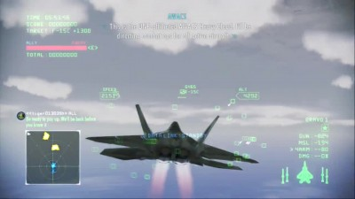 Ace Combat Infinity Mobius 1 Lv15 (2 Slots) Vs Air Strike