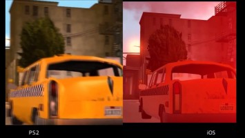 GTA: Liberty City Stories сравнение графики PS2 vs iOS