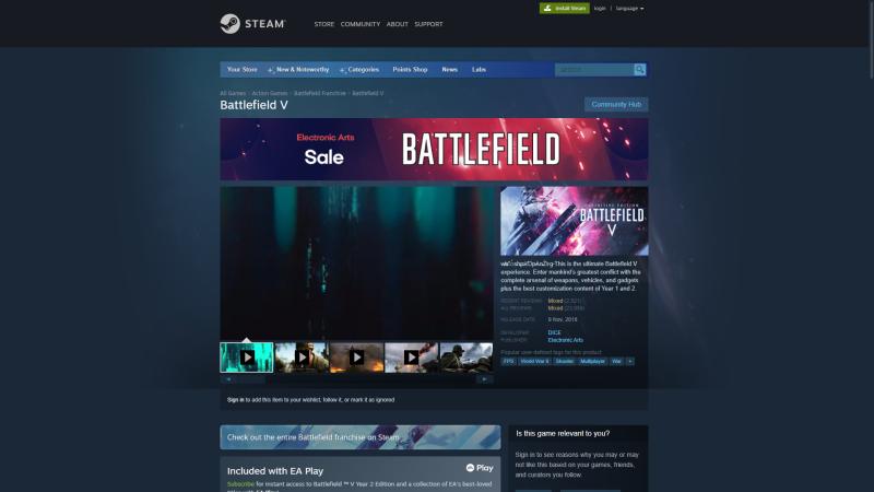 Отсылки к Battlefield 6 появились на страницах прошлых частей игры в цифровых магазинах
