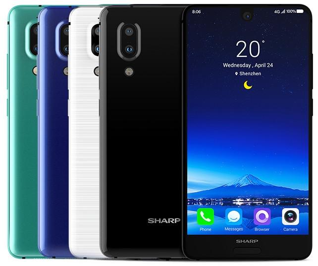 Sharp представила безрамочный смартфон Aquos S2