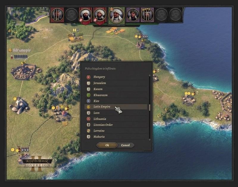 """Как в """"Игре престолов"""": разработчики рассказали о механике шпионажа в Knights of Honor II: Sovereign"""