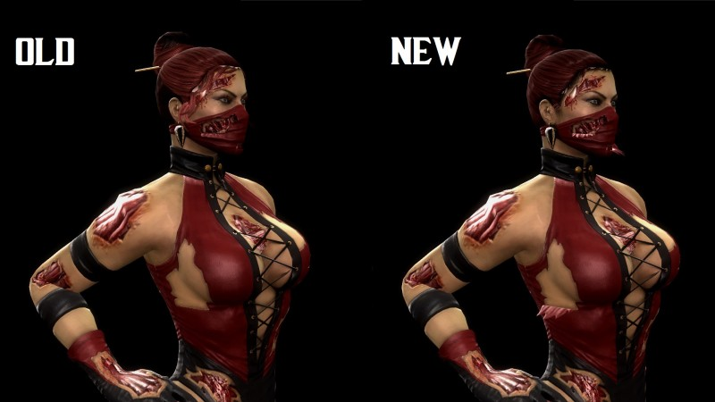 Mortal Kombat (2011) DLC Skin: Klassic MK3 Skarlet v1.1
