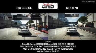 "GRID Autosport ""Сравнение версий GTX 660 SLI vs GTX 970"""