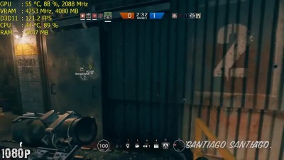 Rainbow Six Siege - GTX 1060 - i5 (Simulated) - 1080p - 1440p - 4K