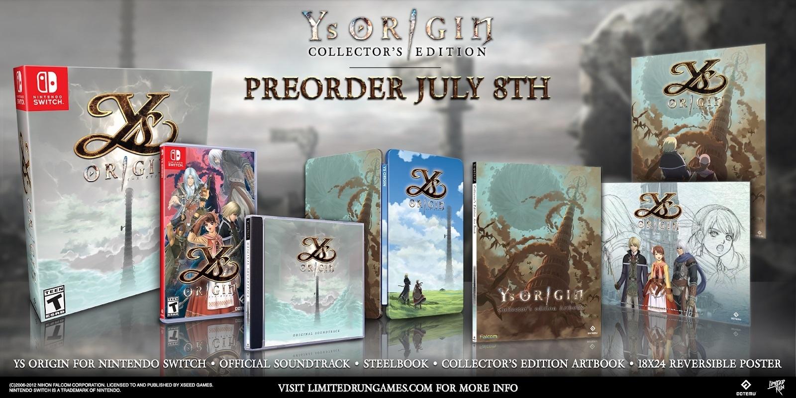 Классическая RPG Ys Origin выйдет на Nintendo Switch в этом году