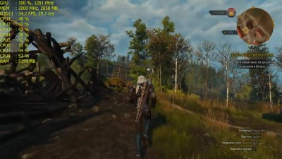 RX480 + FX8350 - Witcher 3 - TEST 4K LOW