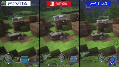 Dragon Quest Builders | Switch vs Vita vs PS4 | Сравнение графики