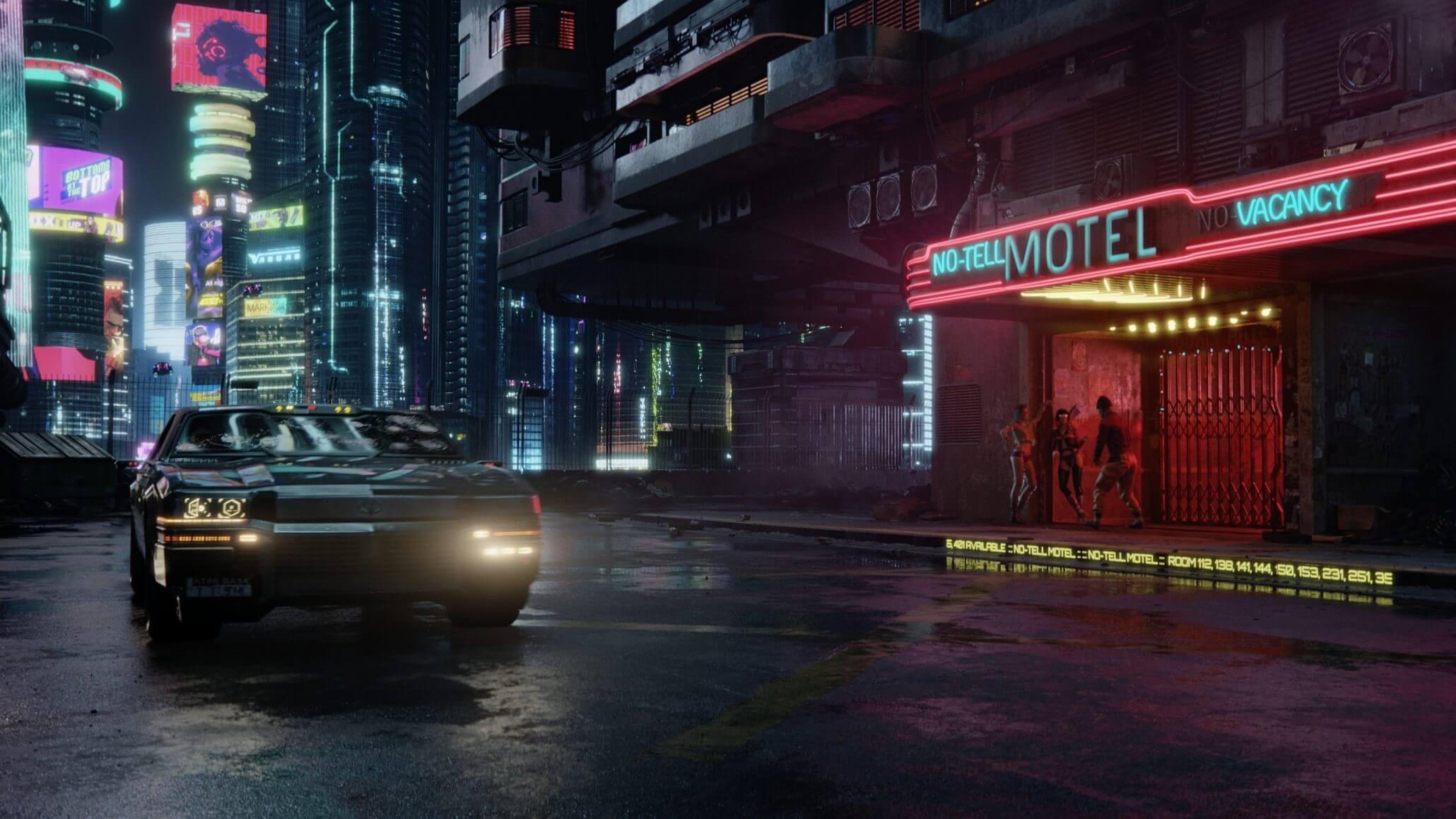 Вышел новый скриншот Cyberpunk 2077, демонстрирующий Найт-Сити ночью