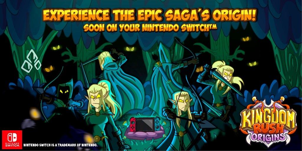 Kingdom Rush Origins выйдет на Switch