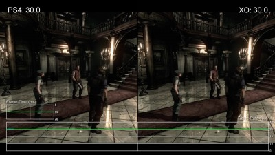 "Resident Evil HD Remaster ""Сравнение частоты кадров PS4 vs Xbox One ""от Digital Foundry"