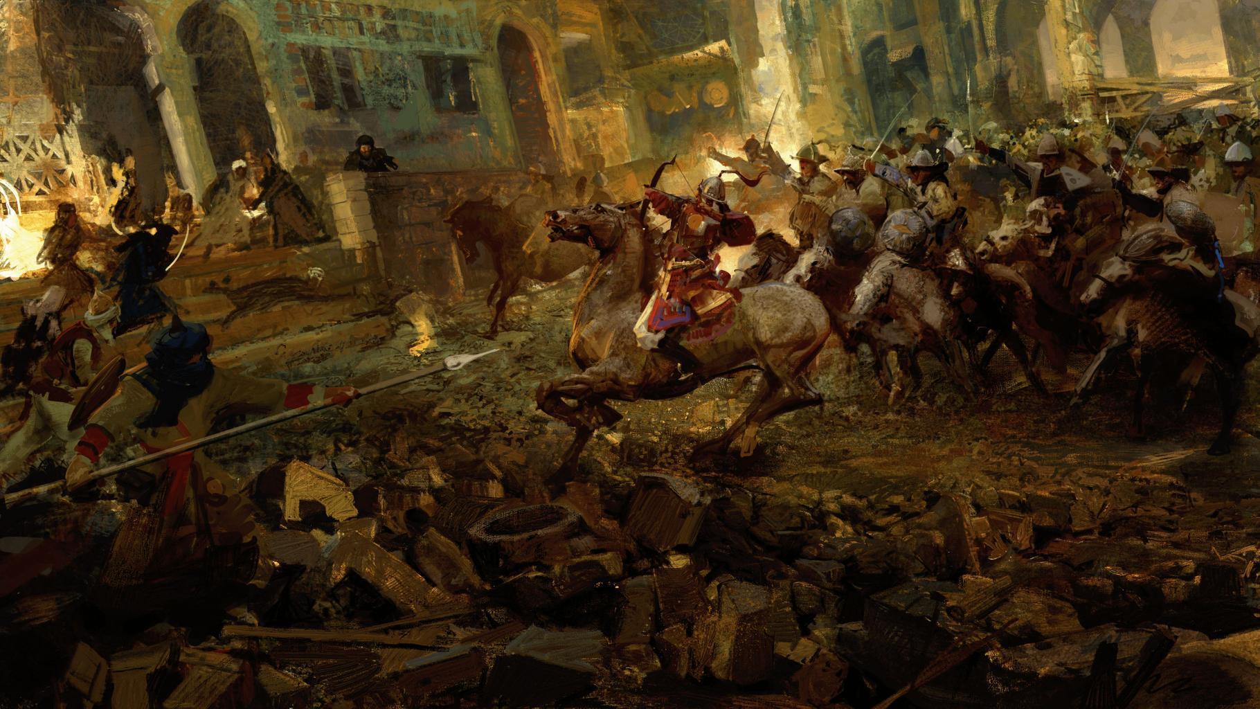 Экраны загрузки как искусство - в Crusader Kings III можно увидеть впечатляющие картины