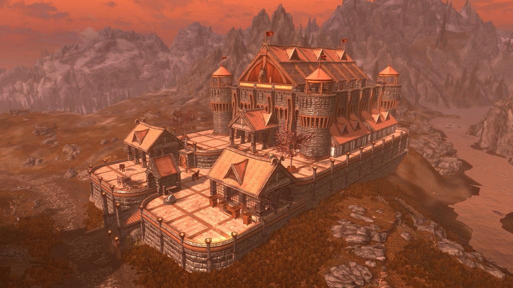 Мод на Скайрим Серый Замок