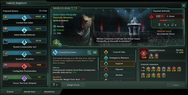 Будет ли Имперский сенат помогать падшим?