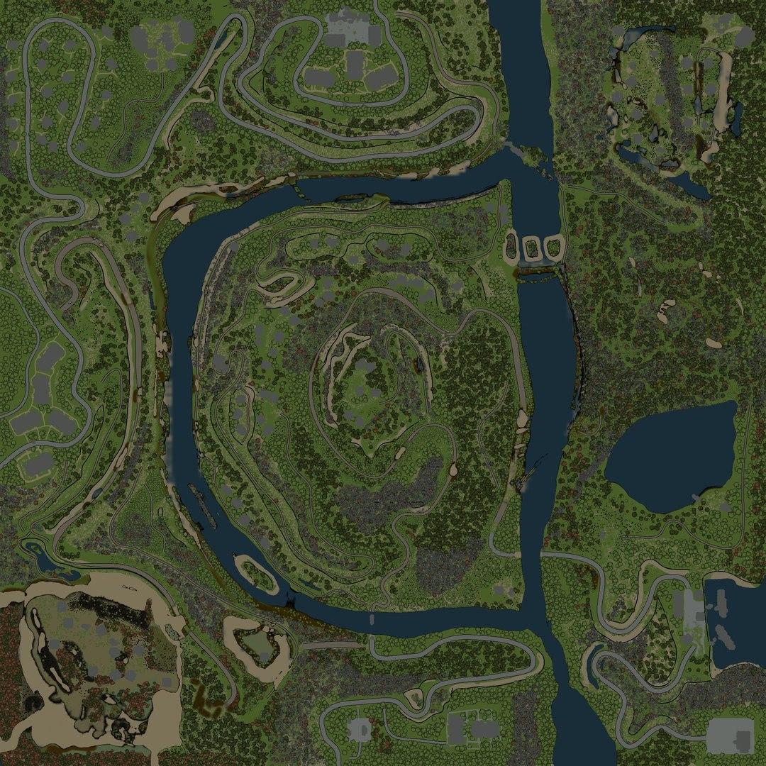 Карта Тунгусский Кратер Для Spin Tires 03.03.16