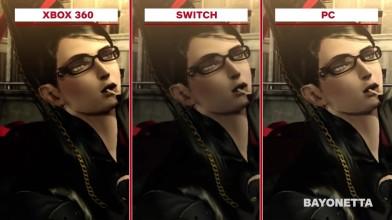 Сравнение графики в Bayonetta - Xbox 360 vs PC vs Wii U vs Switch