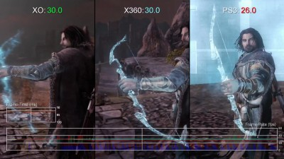 "Middle-earth: Shadow of Mordor""Сравнение частоты кадров Xbox One vs Xbox 360/PS3 ""от Digital Foundry"
