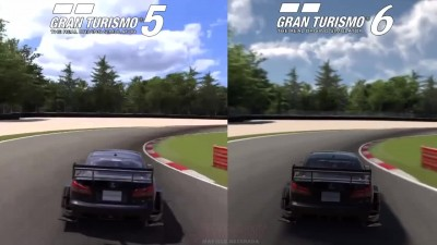 Gran Turismo 6 Vs Gran Turismo 5 - Lexus IS F Racing @ Monza