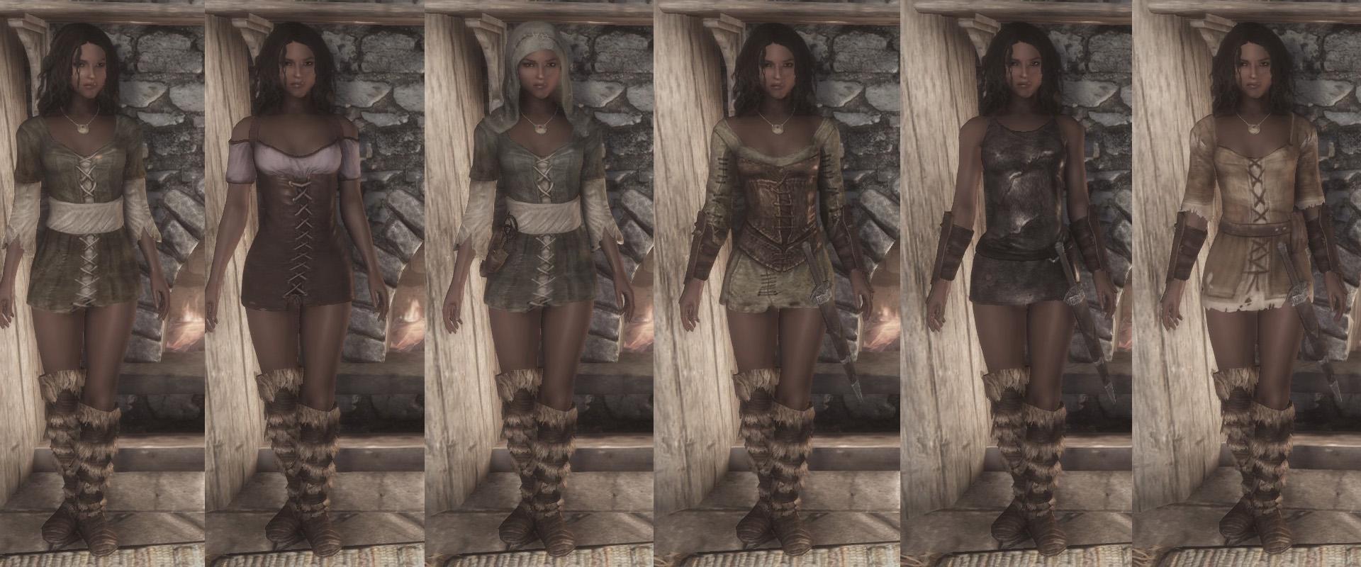 Skyrim UNP Clothing Mods