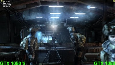 GTX 1050 Ti vs GTX 1050 in Metro Last Light