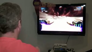 """Kinect Star Wars """"SDCC 11: Pod Racing Gameplay (Cam) """""""