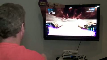 "Kinect Star Wars ""SDCC 11: Pod Racing Gameplay (Cam) """