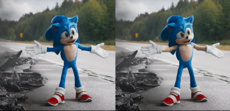 Новый редизайн Соника VS Фотошоп недостающих элементов
