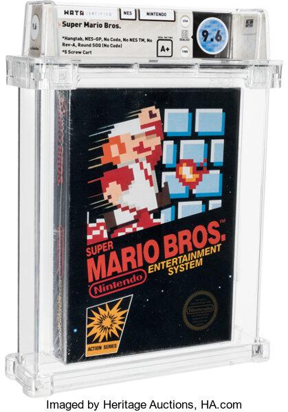 На аукцион выставлена оригинальная Super Mario Bros. в идеальном состоянии - она станет самой дорогой копией в истории
