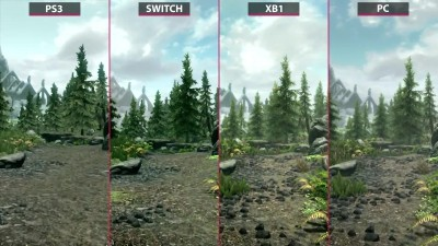 Skyrim - Сравнение графики Switch vs. PS3 vs. Xbox One vs. PC (Candyland)