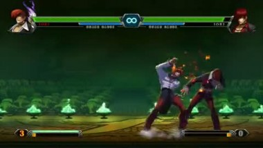 "King of Fighters XIII ""Iori with the Power of the Flames Video"""