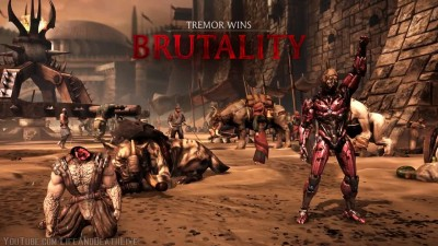 Mortal Kombat XL - All Characters-NPCs Perform Triborg Head Strong Brutality
