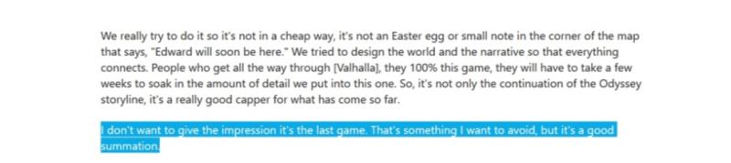 Не хочу, чтобы вы подумали, что это последняя игра. Это то, чего мне хотелось бы избежать, но это хорошее обобщение.
