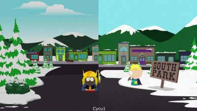Сравнение локаций - South Park Stick of Truth vs Fractured But Whole (Cycu1)
