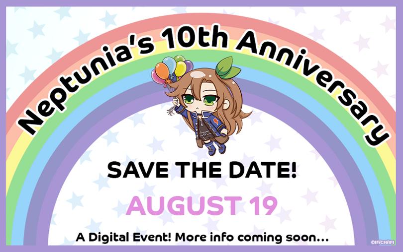 Idea factory international анонсировали цифровое событие Neptunia's 10th anniversary