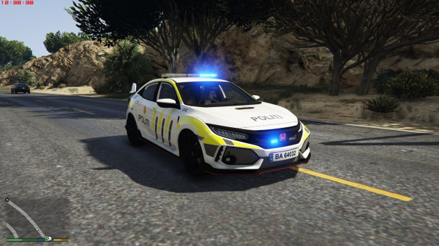 Honda civic type R 2018 Norwegian police