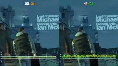 Grand Theft Auto 4 Xbox 360 vs Xbox One частота кадров (VG Tech)
