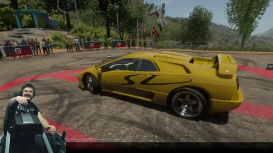 Испытания lamborghini - хотлап на Diablo дрифт на Reventon и Murcielago vs Open-wheel - DriveClub