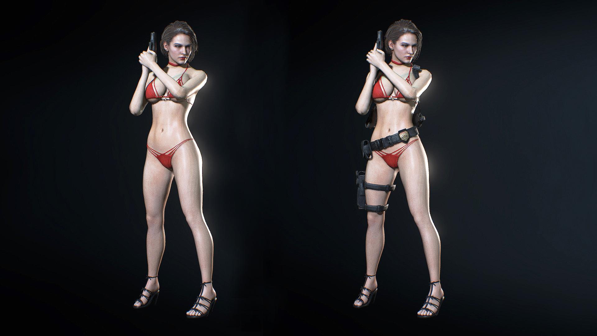 Откровенный купальник для Джилл в новом моде для ремейка Resident Evil 3