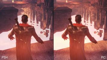 "DmC ""детальное сравнение на PS4 Definitive vs PC Original"""