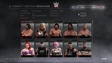 WWE 2K17 - PC Menu Options, Types of Match, Online and More