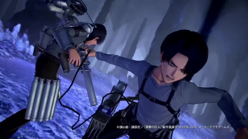 Демонстрация эффективности снаряжения в борьбе с титанами в Attack on Titan 2: Final Battle (ч. 1)