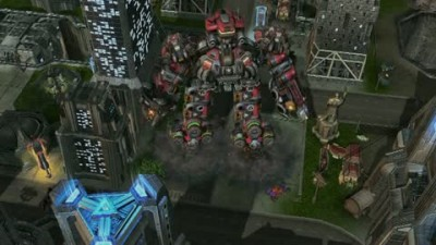 "StarCraft 2 ""Terratron City Attack Gameplay"""