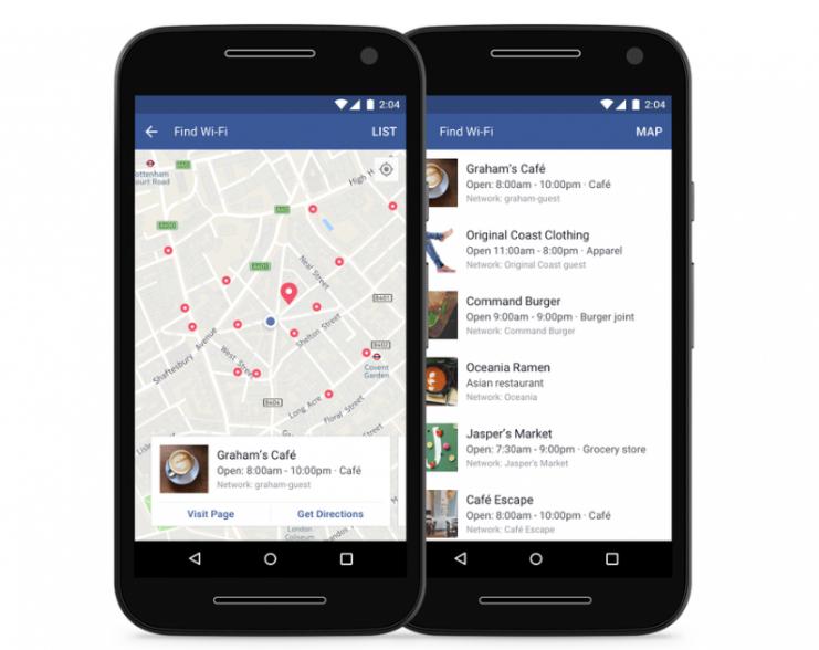 Новая функция фейсбук несомненно поможет отыскать ближайшей точки Wi-Fi