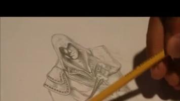 """Assassins Creed 2 """"Рисование Эцио: fast drawing"""""""