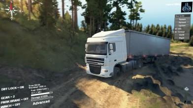"""Spintires """"DAF XF 105 Truck Застрял в грязи"""""""