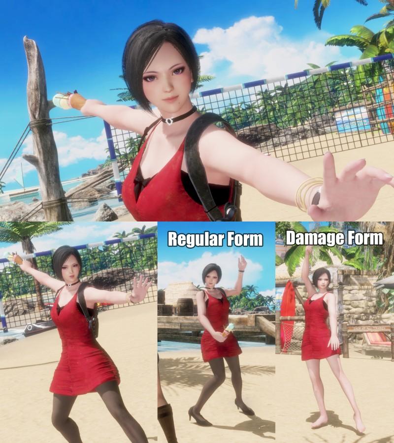 DOA6 mod Nyontengu as RE2 Ada Wong by monkeygigabuster