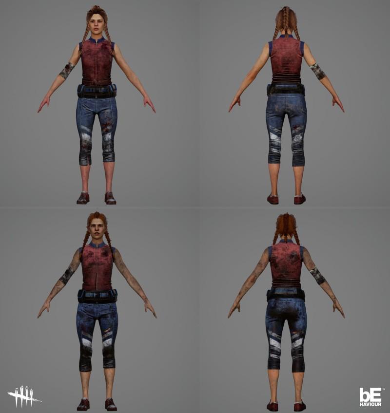 Обновлённые модели и анимации Мег, Клодетт и Дуайта из Dead by Daylight