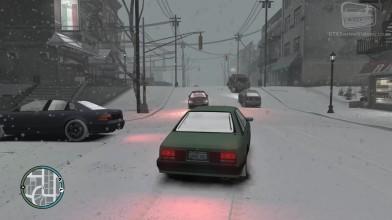 """GTA 4 """"Снег в Либерти-Сити"""""""