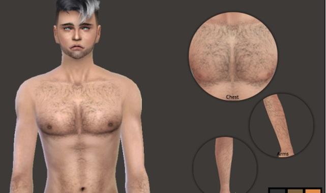 Волосы на теле для sims