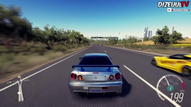 Forza Horizon 3 Nissan SKYLINE GT-R R34 713HP | Paul Walker -Тест-драйв Геймплей (HD)